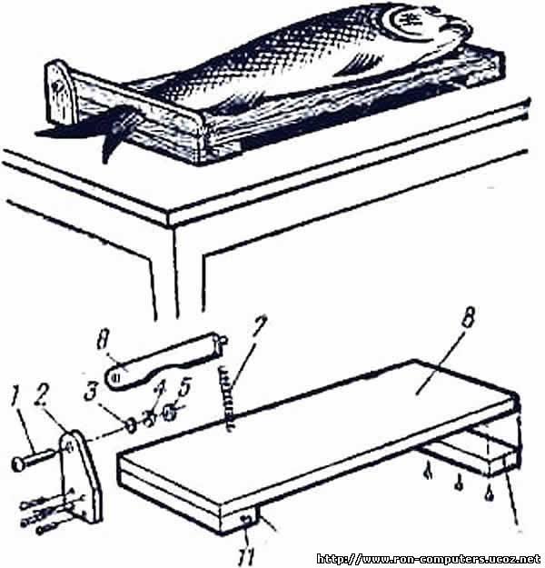 Разделочная доска для чистки рыбы своими руками