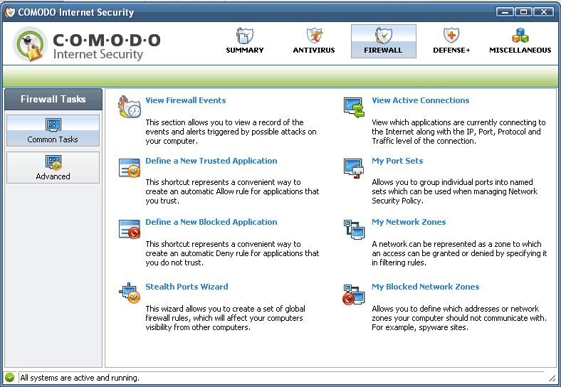 Скриншот COMODO Internet Security (32-bit)