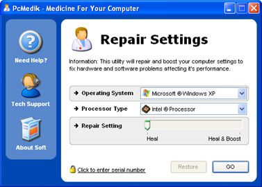 Скриншот PCMedik